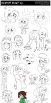 Sketch Dump 20 by Beedalee-Art