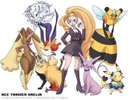 OoC - PKMN Ace Trainer Naelia by Beedalee-Art