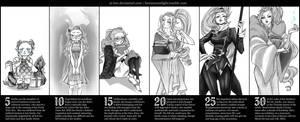 Naelia Age Timeline by Beedalee-Art