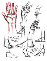 hands and feet by thankyouinternet