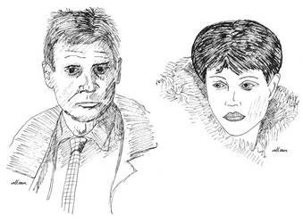 Deckard and Rachael by deviAntAllan