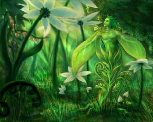 Plant Spirit by Kitsune-aka-Cettie