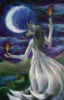 Tarot - The Moon by Kitsune-aka-Cettie