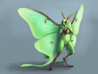 Luna Moth by Kitsune-aka-Cettie