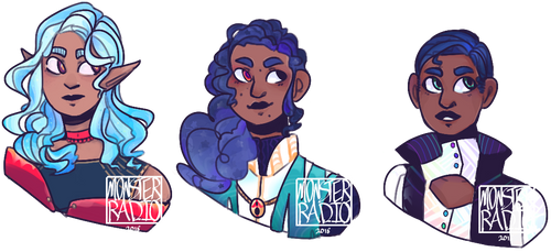 [CLOSED] Blue haired mages [S35] by MonsterRadio