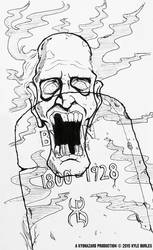 Drawlloween / INKtober: Day 1 - Ghost by Kyohazard