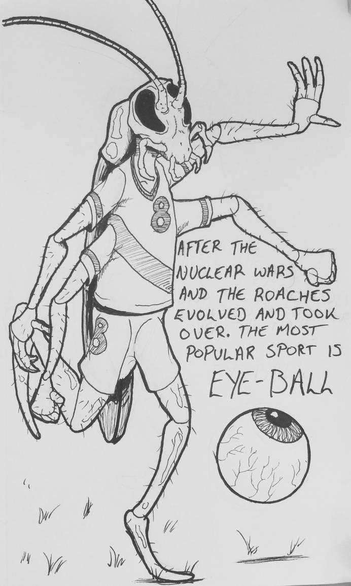 Drawlloween Day 9: Eyeball (again) by Kyohazard