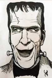 Drawlloween 13: Frankenstein (Nee Munster) by Kyohazard