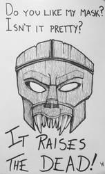 Drawlloween Day 18: Mask by Kyohazard