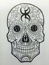 Drawlloween Day 20: Skull by Kyohazard
