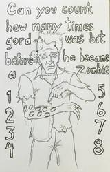 Drawlloween day 21: 8 bit zombie by Kyohazard