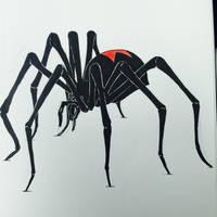 Drawlloween Day 30: Spider by Kyohazard