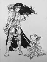 My pathfinder character sketch by Kyohazard