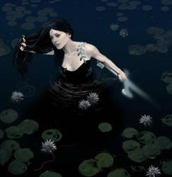 Woman before weilder, Viviane Lady of the Lake by tonyob
