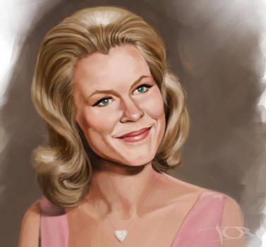 Elizabeth Montgomery sketch by tonyob