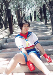 Kasugano Sakura - Street Fighter by RoxiiCosplay