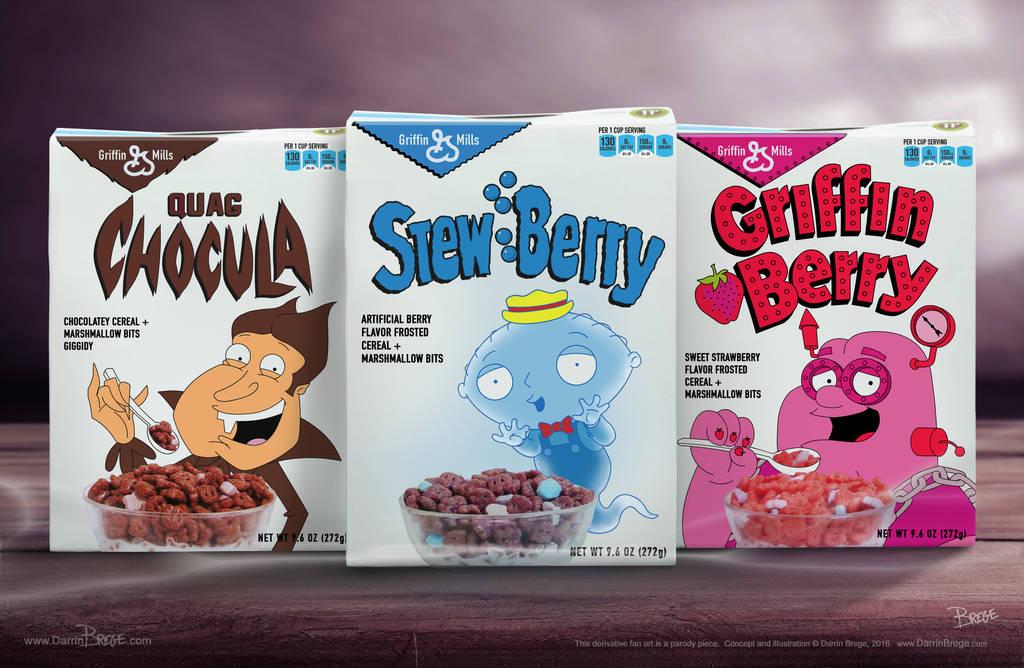 Griffin Mills Monster Cereals by darrinbrege