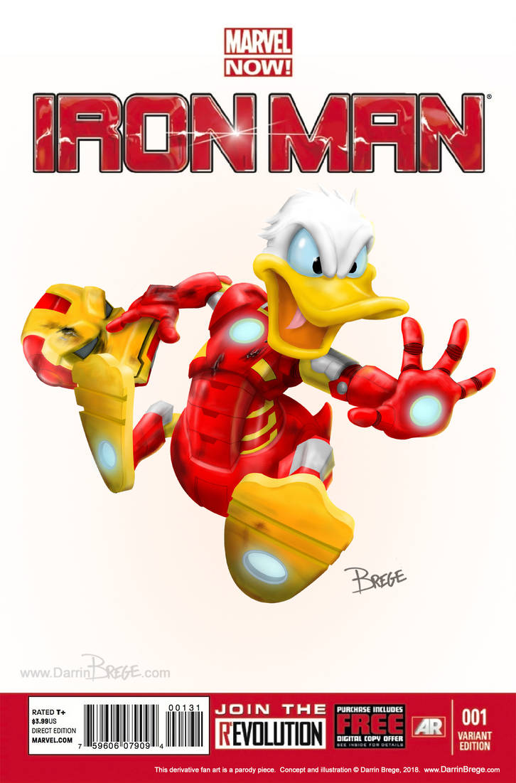 IRON DUCK variant Mash-Up parody Cover by darrinbrege