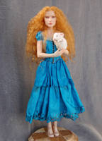 Alice in Wonderland art doll by polymer-people