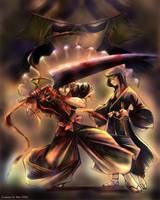 Ichigo-Rukia-Kisuke for Sorako by EugeneCh