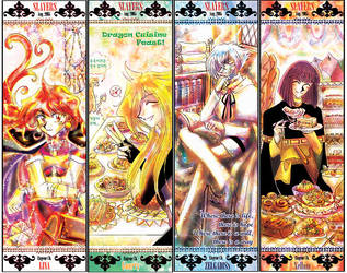 Slayers-bookmarker set 1 by EugeneCh