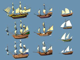 ship model mixed by dwiirawan