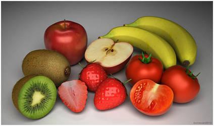 3d Fruit by dwiirawan