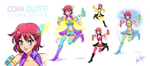Cora outfit design by Atsuky