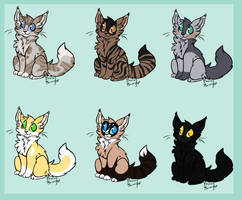Warrior Cat adoptables *open* by Angelpaw33