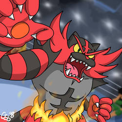 INCINEROAR ENTERS THE RING! by CinSensura