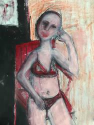 Girl in Room  by maxinelemuz