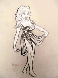 semi slave girl presenting her self for dominanant by HamidForEver