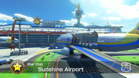 Mario Kart 8 Racetracks - Sunshine Airport by ObsessedGamerGal86