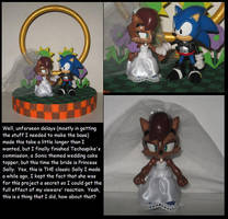 Commission:  Sonic and Sally wedding cake topper by Wakeangel2001
