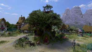 Golden Oak Front Full HD by Chritsel