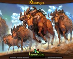 Moonga - Herd of Wildebeest by moonga