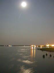Charleston Moonrise by sandcastler
