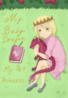 Cover Nalu MyBabyDragon MyPetPrincess chap1 Color by deathbytacos