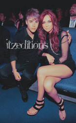 Miley and Justin 01 by Itzeditions