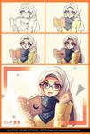 Step Drawing Muslim girl wallpaper... by jokochimaru