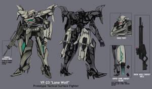 YF-23 Lone Wolf by BlazingChaos