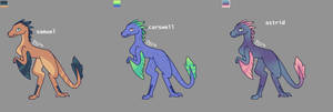 Adoptable Dino Batch 3 (open) by DarkDragondoesFNAF24