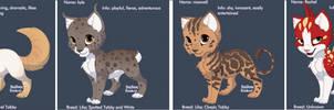 Complex Adoptable Kittens Batch 1 by DarkDragondoesFNAF24
