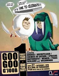 googoogjoob 12 gig poster by mytymark