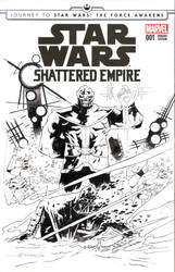 Star Wars: Shattered Empire Sketch Cover by mytymark