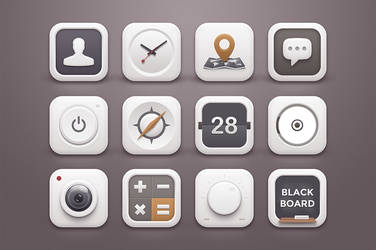 White Winter Icons by wpthemes
