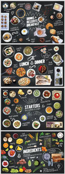 150 Isolated Food Chalk Kit by wpthemes