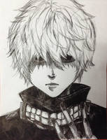 Ken Kaneki (Tokyo Ghoul) by Erin916