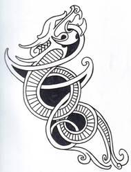 Viking Dragon Outline by vikingtattoo
