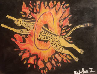 Cheetah Speeds Through Fire by ntaylor24